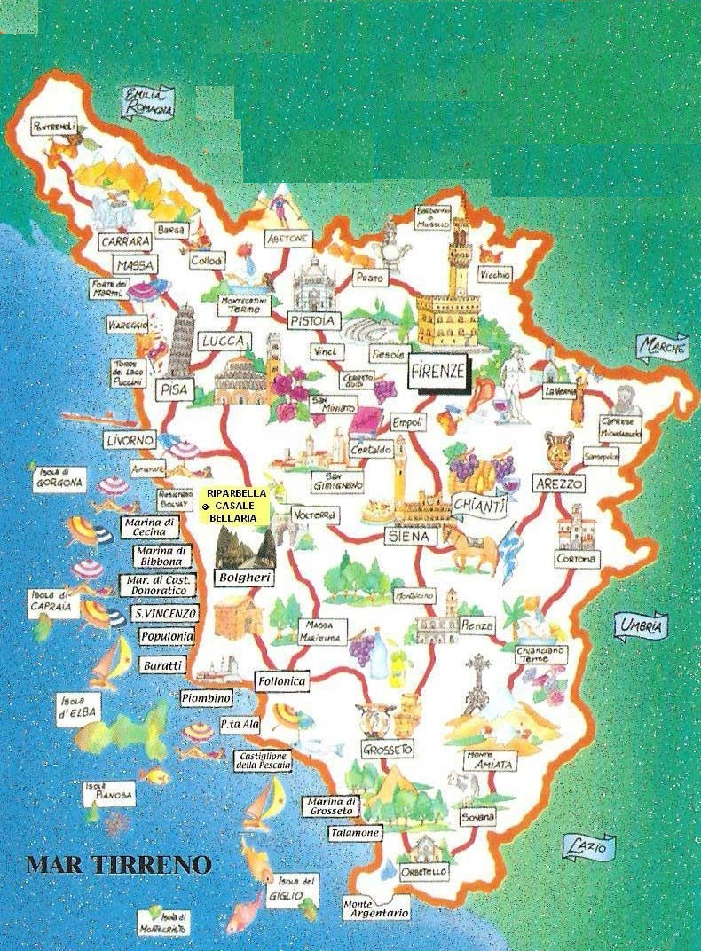 Cartina Toscana Dettagliata.Guide Turistiche Toscana Handy Superabile